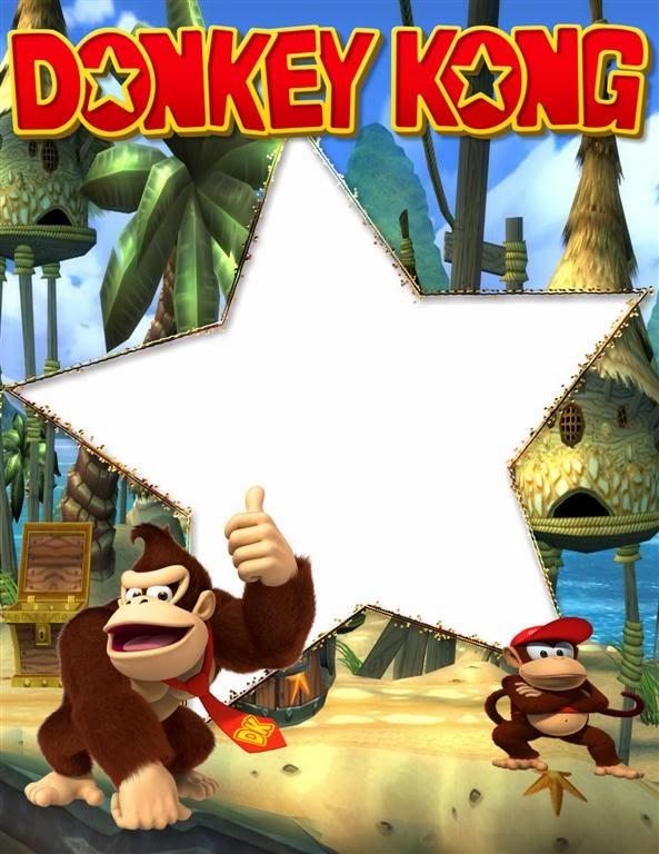 marco de cumpleaños de donkey kong
