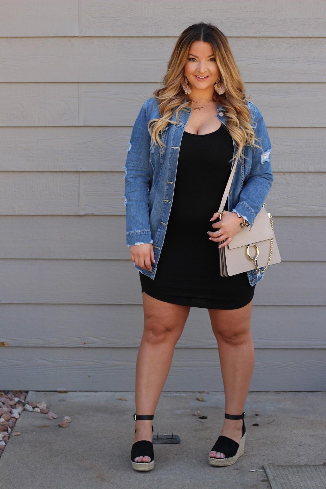 Longline Denim by popular Denver fashion blogger Delayna Denaye