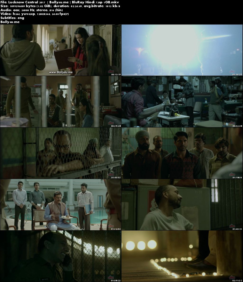 Lucknow Central 2017 BluRay 450MB Full Hindi Movie Download 480p ESub