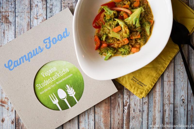 vegane Grünkern Curry Pfanne