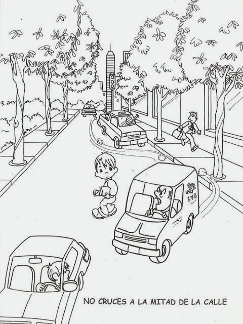 maestra de infantil  educaci u00f3n vial  normas de seguridad vial para colorear  v u00eddeos educativos