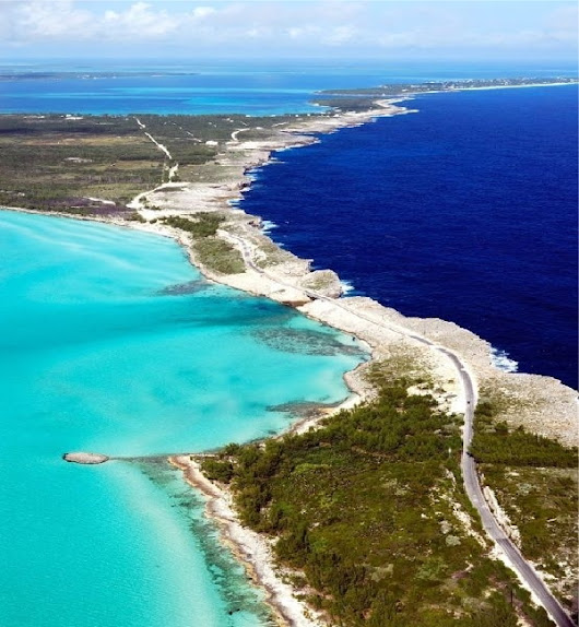 Eluthera Where The Navy Blue Atlantic Ocean And The Aqua Caribbean Sea Meet Is Strikingly Beautiful