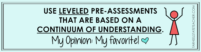 After reading the pros and cons for these 4 kinds of preassessments, you'll be ready to implement your pre-assessments with more strategy and less data-overwhelm! You won't want to miss MY FAVORITE way of pre-assessing 4th grade and 5th grade students in math!!