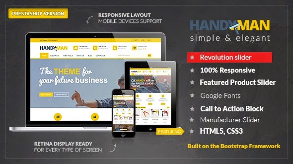 PrestaShop Business Construction Theme
