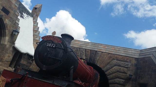 Hogwarts train photo op