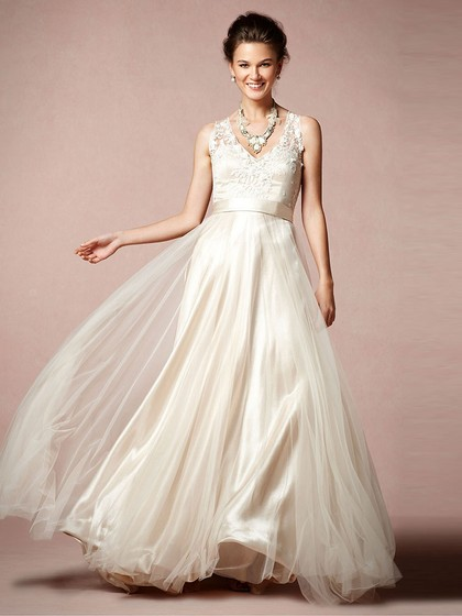 http://www.dressfashion.co.uk/product/a-line-ivory-tulle-appliques-lace-v-neck-modest-wedding-dresses-00016116-4157.html?utm_source=minipost&utm_  medium=1085&utm_campaign=blog