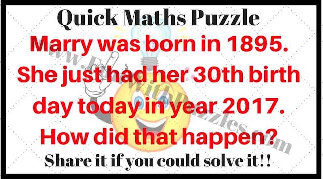 Quick Maths Riddle