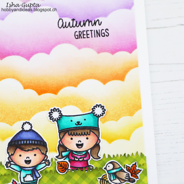 Sunny Studio Stamps: Fall Kiddos Home Sweet Gnome Comic Strip Everyday Dies Fall Themed Cards by Isha Gupta