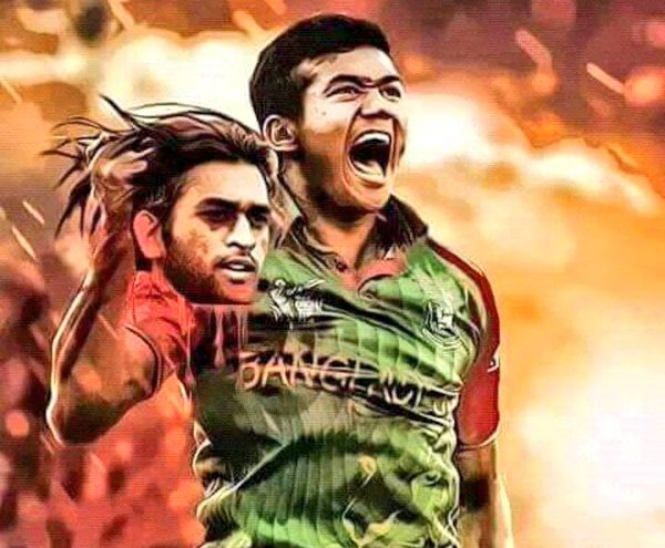 Bangaladesh cricket fans did it again  - started circulating a photoshopped image of their best pacer Taskin Ahmed carrying the severed head of India ODI captain M S Dhoni.  The photo went on a viral storm, even prompting journalists to seek India official Ravi Shastri's response to it, which he rudely avoided.