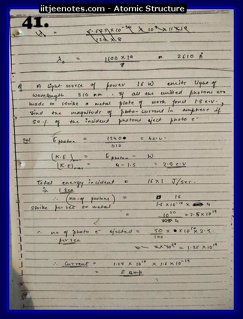Atomic Structure Notes IITJEE8