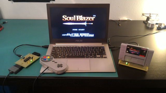 USB SNES Cartridge Reader with a Teensy++ 2.0 3