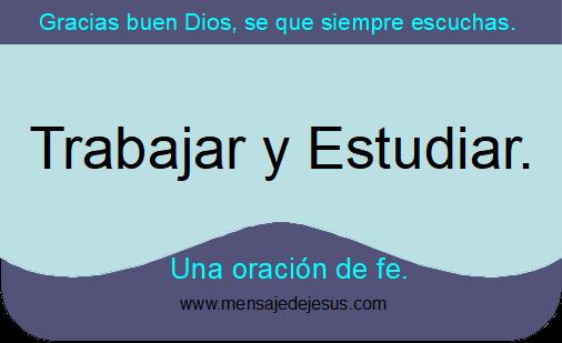 Oraciones para trabajar y estudiar.