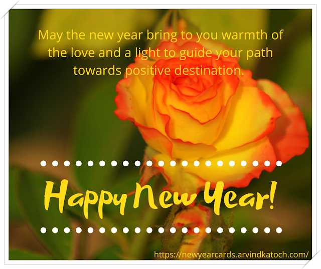 Happy New Year, Cards, positive, destination, rose bud,