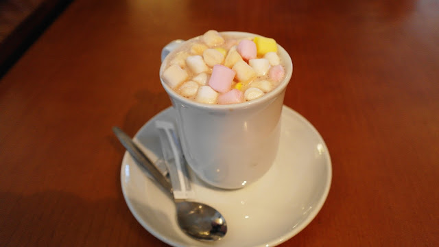 Hot chocolate with marsmallows