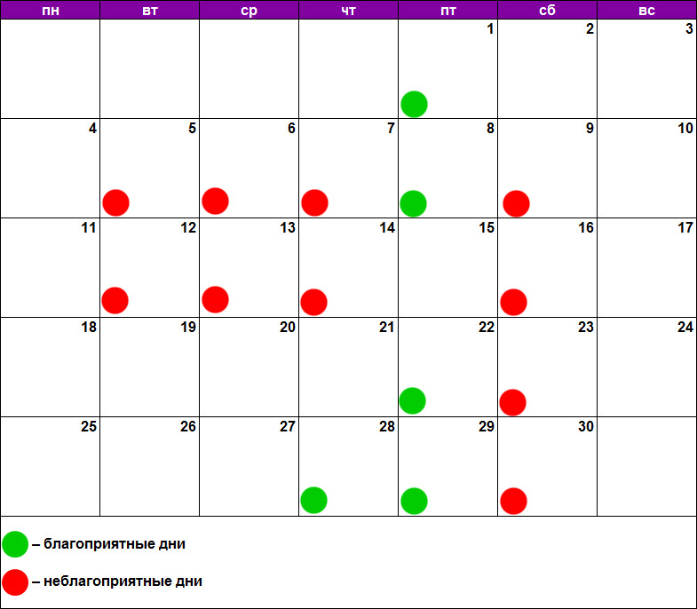 Лунный календарь маникюра и педикюра на июнь 2018