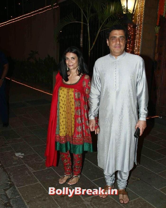 Zarina Mehta, Ronnie Screwvala, Photos from Amitabh Bachchan's Diwali Bash 2014