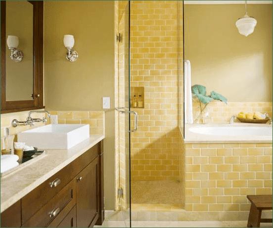 تصاميم حمامات سيراميك ليمونى