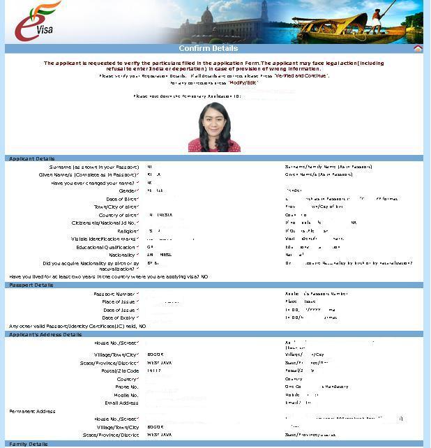 pengalaman membuat e visa india secara online