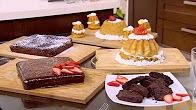 برنامج  أميرة في المطبخ 26-1-2017 طريقة عمل براونيز - باباز - جاتوه شاتوه بالشيكولاتة مع أميرة شنب