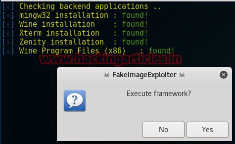 Backdoor incorporado em uma imagem usando FakeImageExploiter