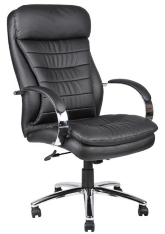 Boss Deluxe Leather Contemporary Chair