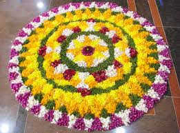 Rangoli Using Flower Petals