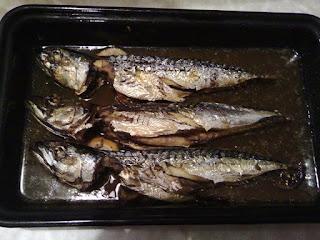 Picture of Baked skusha (saury, mackerel)