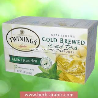 شاي مثلج اخضر