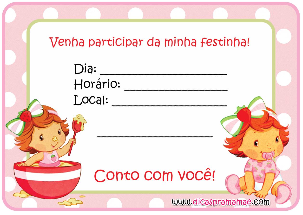 Pin De Ide Teixeira Em Convite Moranguinho Moranguinho Baby