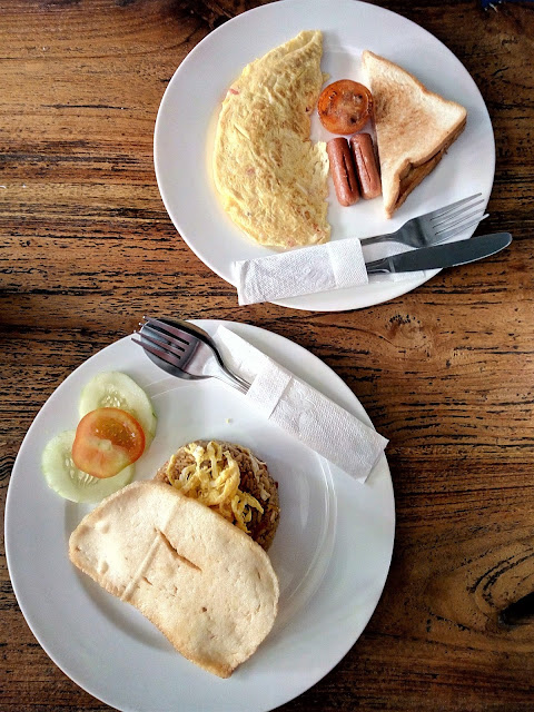 Menu sarapan di Pawon Cokelat Guest House