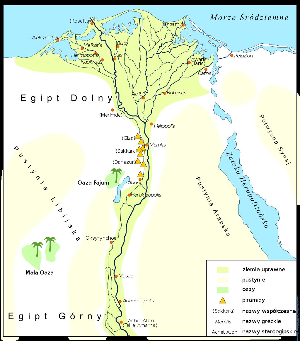 Famous Pharaohs Ancient Egypt Map Lower Egypt