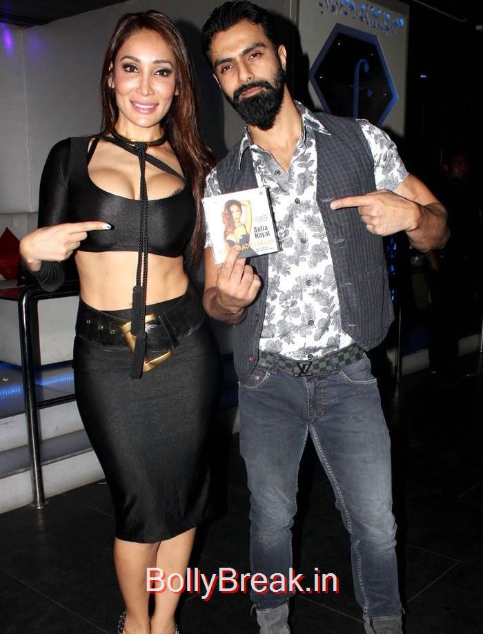 Sofia Hayat, Ashmit Patel, Sofia Hayat hot Pics from her album Launch in black Dress