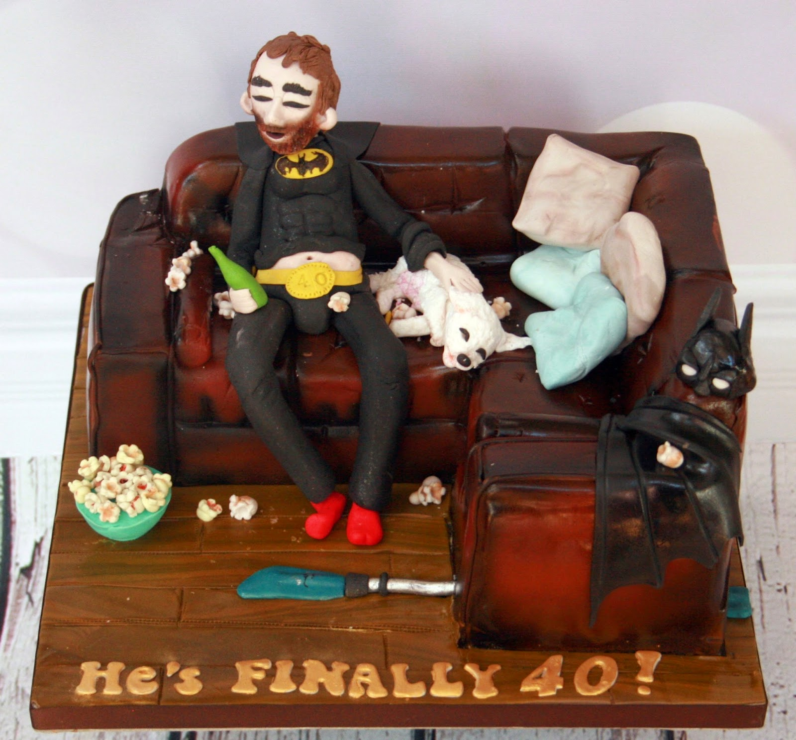 The Perfectionist Confectionist Sleepy hard being 40 Birthday Cake