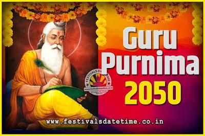 2050 Guru Purnima Pooja Date and Time, 2050 Guru Purnima Calendar