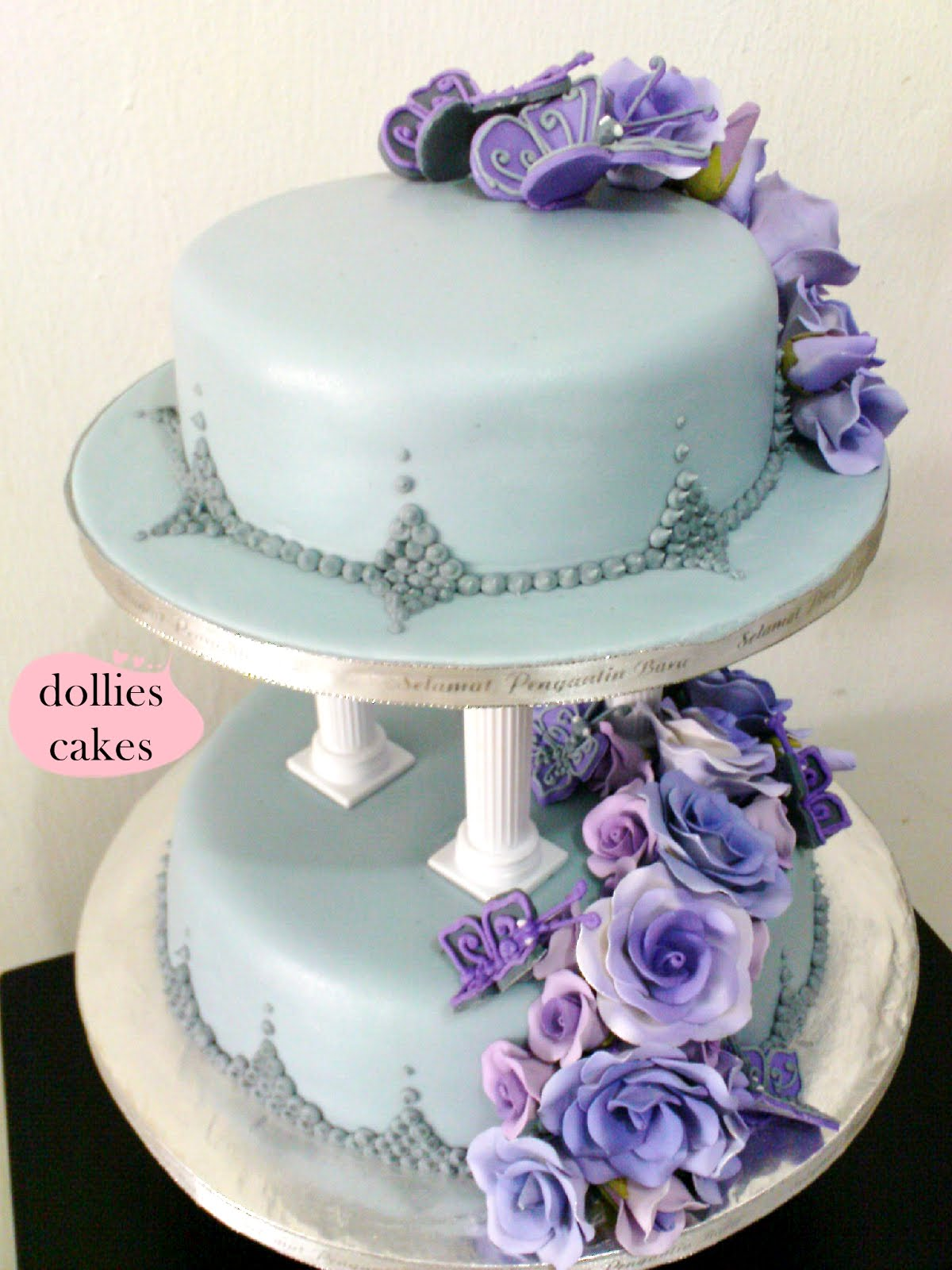 purple and grey wedding cakes dollies cakes purple grey wedding cakes 18860
