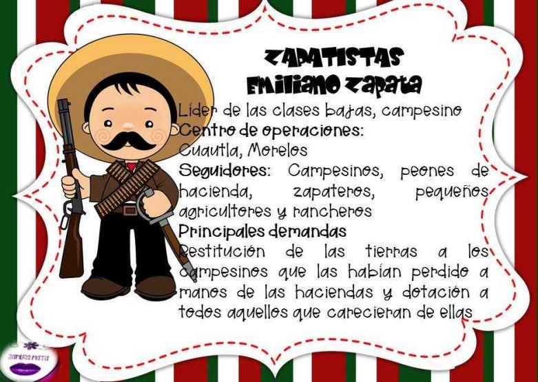 Fichas (Biografías) de la Revolución mexicana para imprimir ...