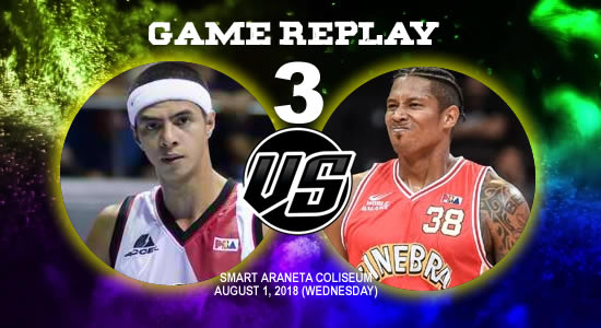 Video Playlist: SMB vs Ginebra Game 3 replay August 1, 2018 PBA Commissioner's Cup