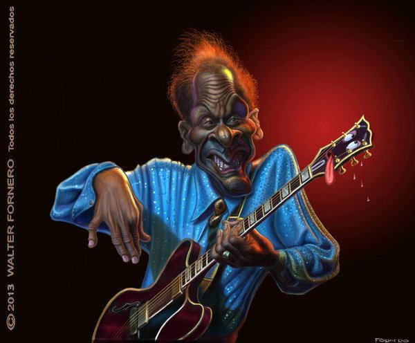 Chuck Berry por Walter Fornero