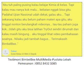 Testimoni Konsumen pengguna Flasdisk BimbelBee multimedia pustaka lebah
