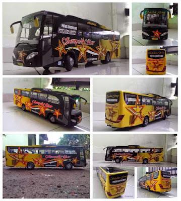 Kreasi Miniatur Bus Sempati Star Trayek Banda Aceh - Medan
