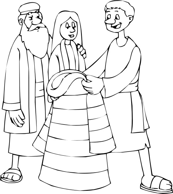 joseph and coat of many colors coloring page - computer mouse coloring coloring page coloring pages