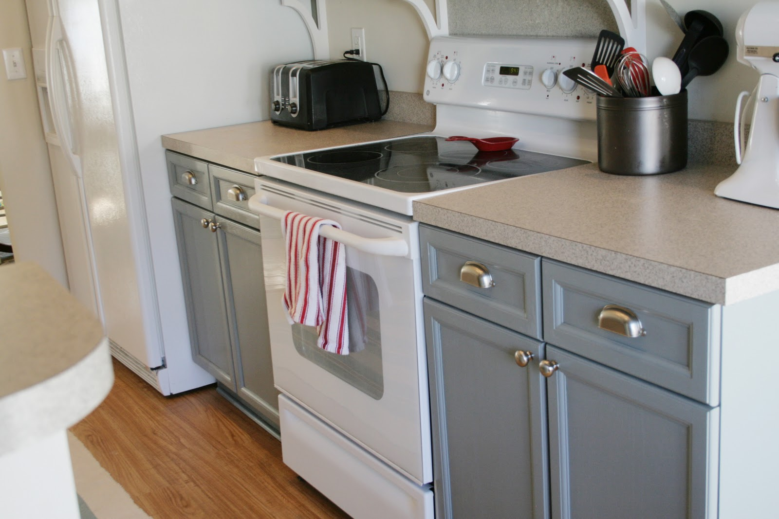 Remodelaholic Kitchen Makeover Painted Cabinets And A