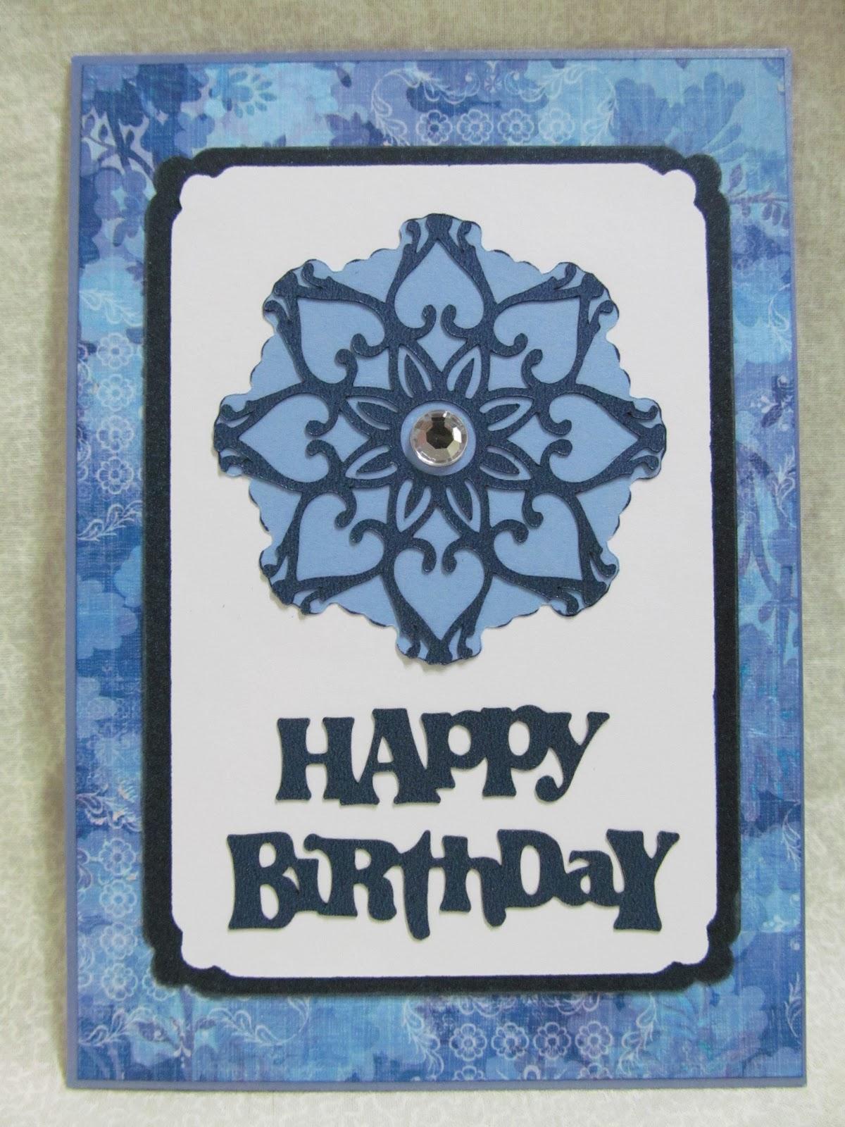 Savvy Handmade Cards: Happy Birthday Cricut Card