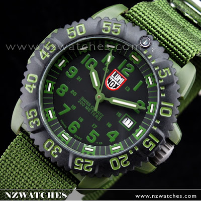 Luminox OD Military Series Green Nylon Strap Mens Watch 3042   3041 (FREE  EXTRA STRAP)  1a16281baf4d