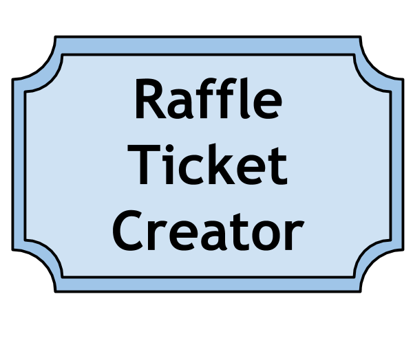 Raffle Ticket Templates for Word and Publisher – Ticket Outline