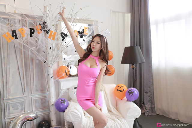 1 Yoon Ae Ji -  Halloween Set - very cute asian girl-girlcute4u.blogspot.com