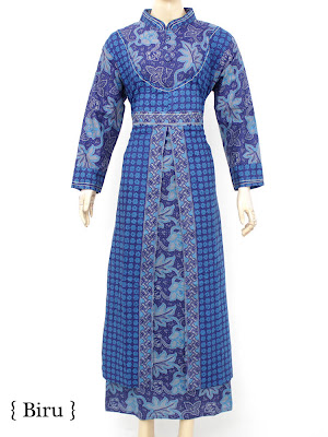 20 Model Terbaik Baju Muslim Gamis Batik Modern 2017