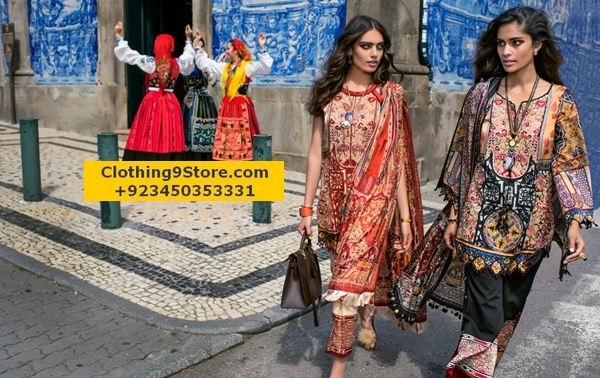 Shehla Chatoor Luxury Lawn 2017-18 by Shariq Tex