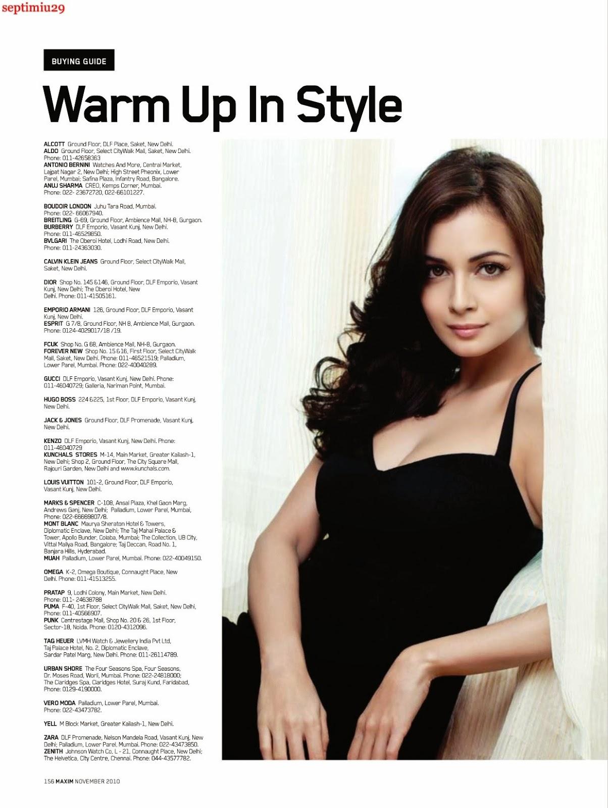 Celebrity Celebritys Dia Mirza Sizzling Hot On Maxim November
