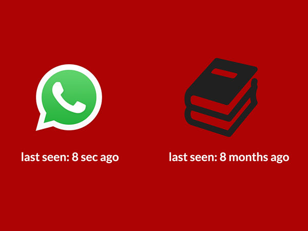 Today Youth Last seen Status With Whatsapp Vs Books
